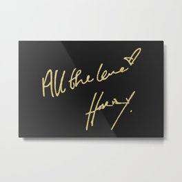 All The Love - Harry Styles Metal Print