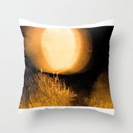 Dark Night Amber Throw Pillow