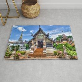 Chiang Mai Thailand Buddhist Temple Rug