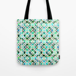 Blue Morrocan Tiles watercolot Tote Bag