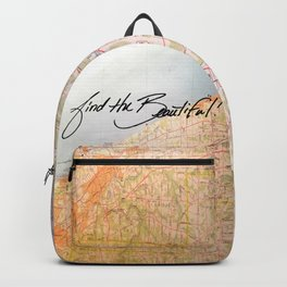 Find the Beautiful Backpack Map Backpack