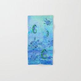 Sea Turtle Batik Hand & Bath Towel