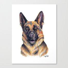 German Shepard - Dog Portrait Canvas Print