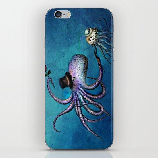 Underwater Love // octopus jellyfish iPhone & iPod Skin