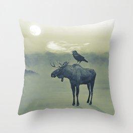 Spirit of the Raven Throw Pillow