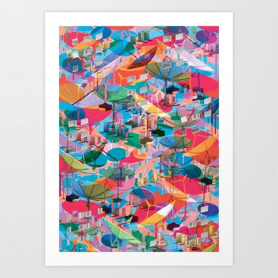Fragmented Worlds VIII II Art Print