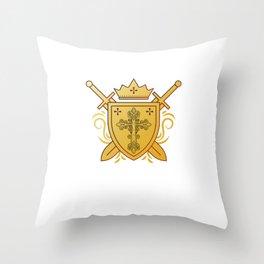 Spiritual Christian Religion Faith Christianity Church Jesus Cross Shield God Gift Throw Pillow
