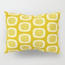 Mid Century Modern Atomic Sunburst Mustard Yellow Pillow Sham