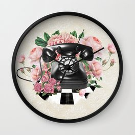 Vintage Rotary Phone Wall Clock