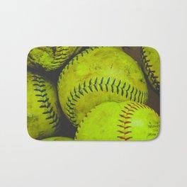 A Bucket Full of Softballs Bath Mat