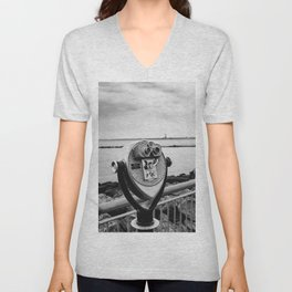 Looking At Lady Liberty Unisex V-Neck