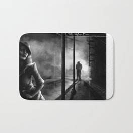 Strangers in the Alley Bath Mat