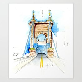 Roebling Bridge Art Print