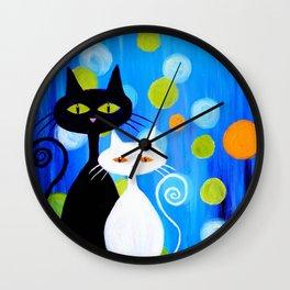 Fancy Cats Wall Clock