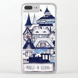 Midnight in Bucovina Clear iPhone Case