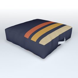 Vintage Retro Stripes Outdoor Floor Cushion