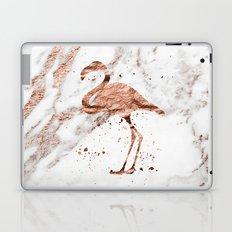 Rose gold marble - flamingo Laptop & iPad Skin