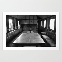 Old train compartment 4 Art Print