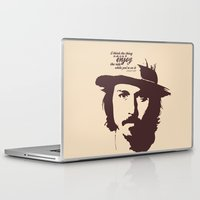 johnny depp Laptop & iPad Skins featuring Lab No. 4 - Johnny Depp Motivational quotes Poster by Lab No. 4