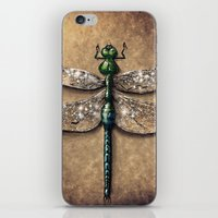 dragonfly iPhone & iPod Skins featuring Dragonfly  by Werk of Art