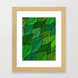 Lush / Leaf Pattern Framed Art Print