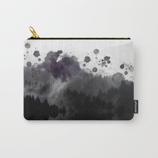 Watercolor forest reflections -abstract Carry-All Pouch