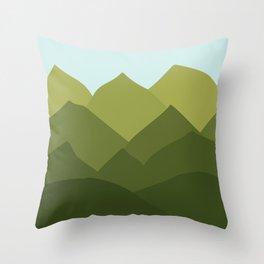Mountains and Sky Throw Pillow