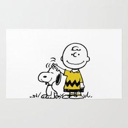a boy & has dog Rug