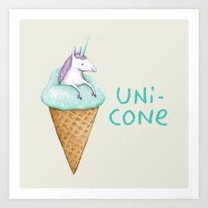 Unicone Art Print