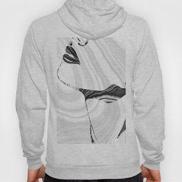 Sensual Portrait Art - Marbled Seduction - Sharon Cummings Hoody
