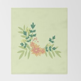Citrus Floral Throw Blanket
