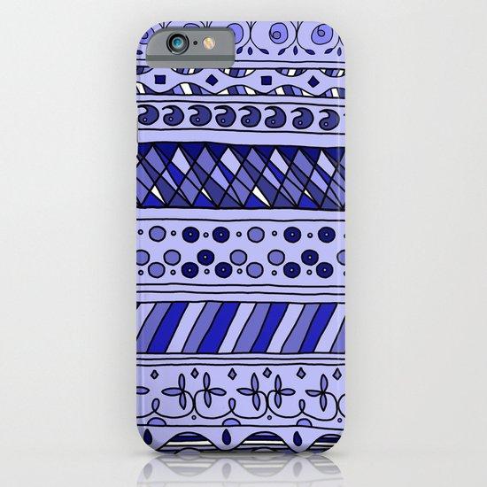 Yzor pattern 002 blue iPhone & iPod Case