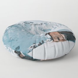 Hello Winter - Landscape and Nature Photography Floor Pillow