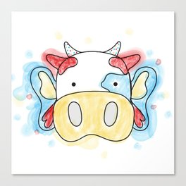 La Vaca Mariposa Canvas Print
