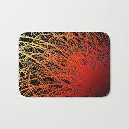 Linear Explosion - Sunset Bath Mat