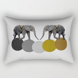 Tribal Elephants Rectangular Pillow