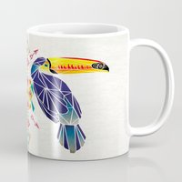 toucan Mugs featuring toucan by Manoou