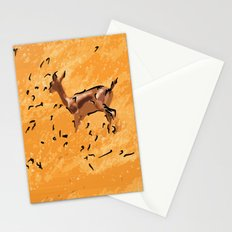 Deers in a yellow field Stationery Cards