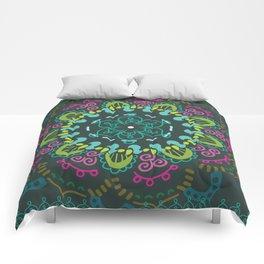 Jade and Jewel mandala- studio/dorm wall hanging tapestry Comforters