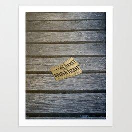 Golden ticket in Cahors Art Print