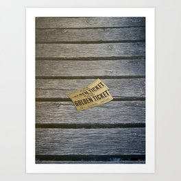 Golden ticket in Cahors Art Print