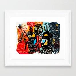 We're the children of freedom Framed Art Print