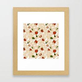 Spaghetti with tomato Framed Art Print