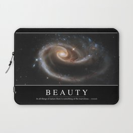 Beauty: Inspirational Quote and Motivational Poster Laptop Sleeve