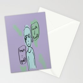 Feminism is equality Stationery Cards