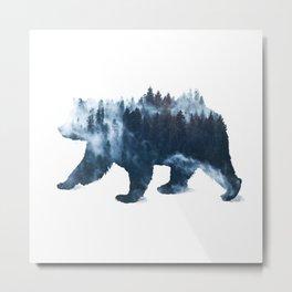 Nature Bear Metal Print