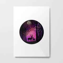 Purple Dreamers Metal Print