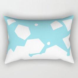 Rockery on Blue Rectangular Pillow