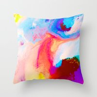 bat Throw Pillows featuring Bat by Kimsey Price