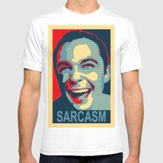 Sarcasm Mens Fitted Tee White MEDIUM
